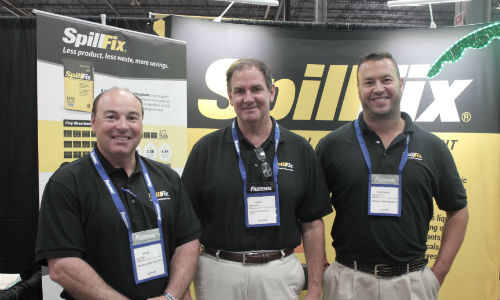 Bruce Baker, David Roache and Christopher Mudra. The three were onhand during the Fastenal Trade Show in Kitchener, Ontario to demonstrate and promote Spillfix.