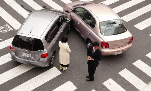 Staged collisions may draw innocent drivers into dangerous situations.