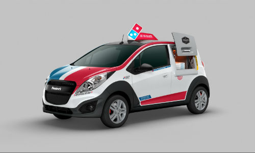 Domino's Mobile Pizza Oven, ready to roll.