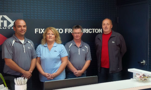 Some of the team from Fix Auto Fredericton. The facility has recently joined the Fix Auto network.