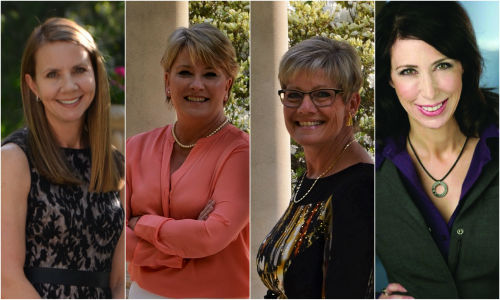 The Most Influential Women Recipients from 2015, from left: Cheryl Boswell, Lisa Siembab, Ruth Weniger and Lauren Fix. Nominations are now open for 2016.