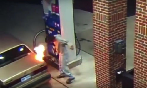A man at a gas station in Detroit tried to kill a spider with his lighter. Believe us, it gets worse from here.