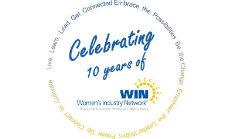 WIN 10th anniversary logo