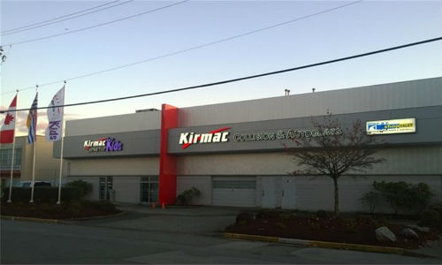 The new location for Kirmac Collision & Autoglass is located at 11420 Voyageur Way in Richmond, BC.