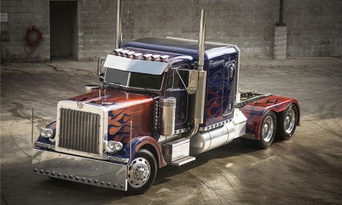Barrett-Jackson is auctioning off some of the vehicles used in the Transformers movies, including one of the trucks used to portray Optimus Prime.