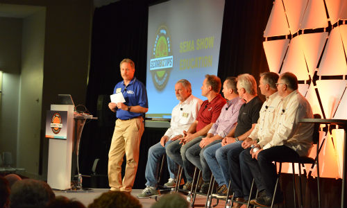 A panel discussion at the 2015 SEMA Show. The Show has recently issued a call for industry speakers.