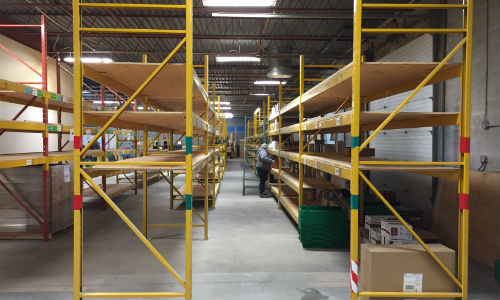A view of the new warehouse being stocked. Treschak Enterprises had to move to a new location to expand.