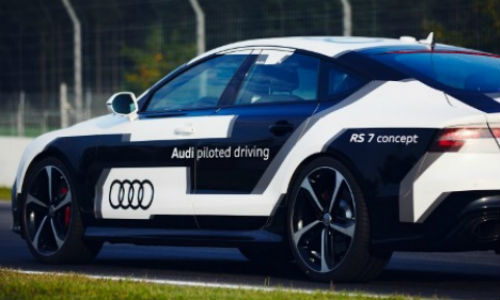The Audi RS7 Performance Piloted Driving concept is one of five autonomous vehicles currently on display at CIAS.