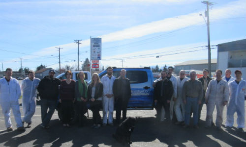 The team at CSN-Reliable Auto Body. The facility has recently been designated as a Toyota Certified Collision Centre.