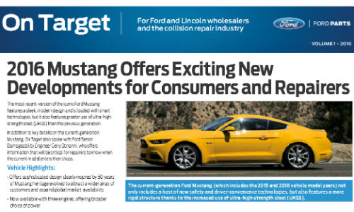 The latest issue of Ford's On Target looks at changes to the iconic Mustang, among other topics.