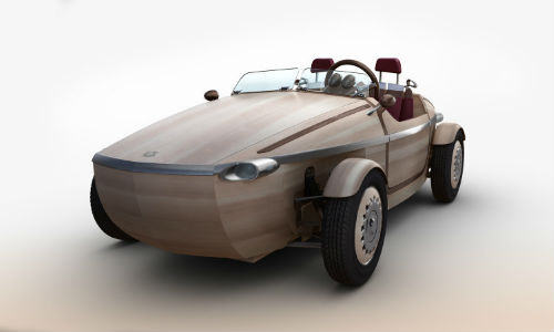 The wooden Toyota Setsuna, a concept car with a maximum range of about 16 miles. Let's be honest here; it's for looking at, not for driving.
