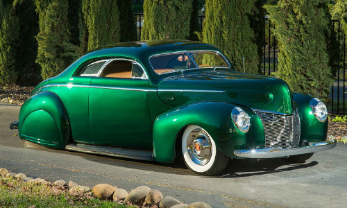 One of the new custom colours from House of Kolor, Black Forest, adorns this 1940 Merc.
