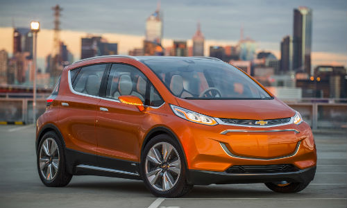Chevrolet Bolts, like the one shown here, will form the self-driving taxi fleet.