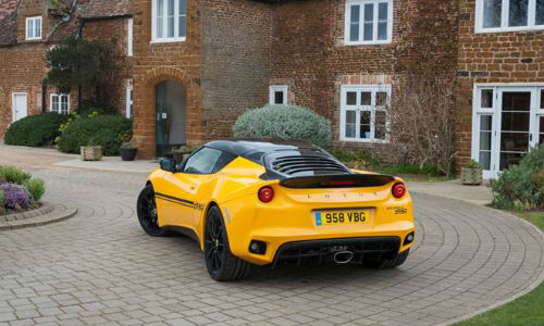 The Lotus Evora Sport 410 features a carbon fibre tailgate, among other weight saving strategies.