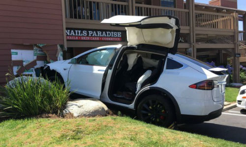 A Tesla Model X owner claimed the vehicle accelerated on its own and 'autonomous' crashed into the building. The vehicle's logs say otherwise.