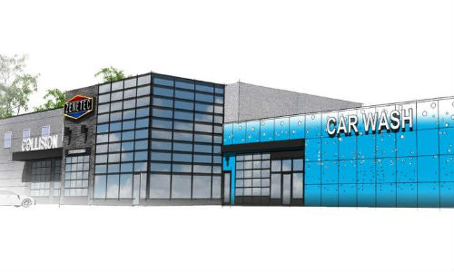 An artist's rendering of the new location for CSN-Zenetec Collision Centre in south Barrie. The facility is slated to be fully operational by 2017.