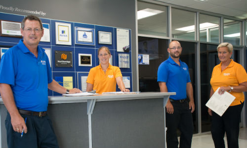 CSN-Kingston has recently achieved I-CAR Gold Class. The facility is owned and operated by the Stenson family. From left: Pat, Amanda, Shawn and Patty.
