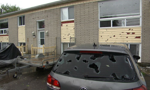A hail storm rolled through the Saguenay region of Quebec this week, damaging numerous vehicles.