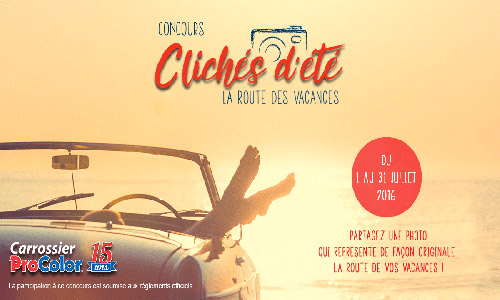 The Clichés d'été contest will run from July 1 to September 30. Participants will have the chance to win either a personal alcohol detector or a vehicle emergency kit.