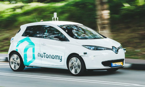 The first self-driving taxis started public trials in Singapore last week. The vehicles are produced by US start-up NuTonomy.