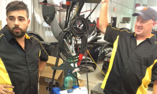Demonstrating the capabilities of Pro Spot's aluminum welding station. Check out the gallery below for more photos!