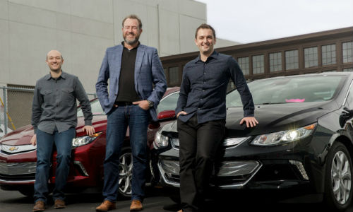 From left: Logan Green, Chief Executive of Lyft; Daniel Ammann, President of General Motors; and John Zimmer, founder of Lyft. Zimmer recently penned a manifesto on his vision for a self-driving future.