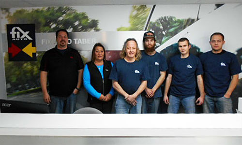 The team from Fix Auto Taber.