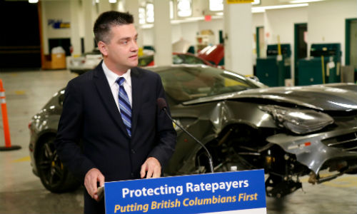 Todd Stone, BC's Minister of Transportation and Infrastructure, has announced that the province will no longer insure vehicles worth more than $150,000.
