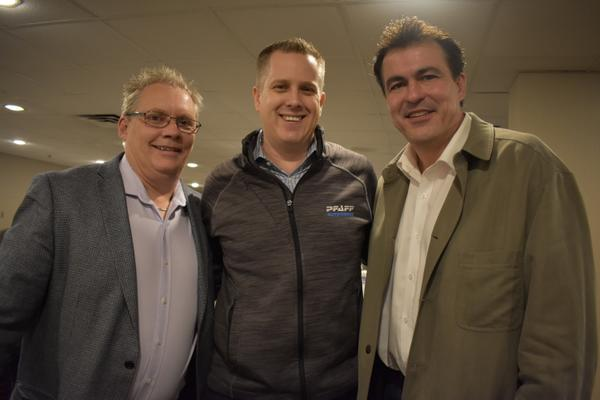 Darren Roche of Axalta, Jeff Pabst of Pfaff Autoworks and Phil Heuckroth of Axalta at the Toronto event. Check out the gallery below for more photos!