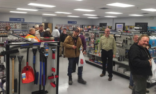 At one of the AutoChoice open houses. The events were held to show off the new buildings and renovations at four of the company's locations.