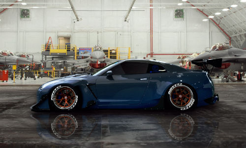 """BASF's 2017 """"Color of the Year"""" is Reflexion Nebula, shown here on a custom Nissan Skyline GT-R. According to BASF, the colour shifts from blue to gray, depending on your point of view."""