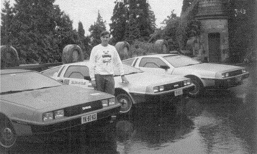 Stephen Wynne, CEO of the new DeLorean Motor Company, shown here in photo from 1984, has been a fan of the car since the beginning.