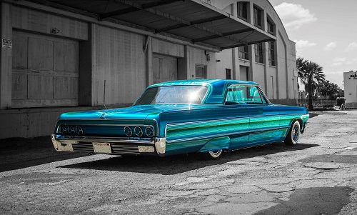 This 1964 Chevy Impala is the work of Albert De Alba Jr. of Cal Blast in Oakland, California. De Alba is one of the 12 painters who received this year's Prestigious Painter honour from House of Kolor, a Valspar Automotive brand.
