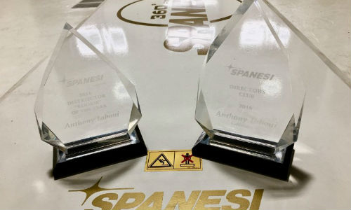 The awards are for 'Rookie' Distributor of the Year and the Spanesi Director's Club.