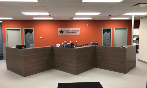 The Calgary location of Color Compass has recently been renovated to include a new training centre, a larger showroom and other features.