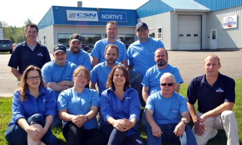 The team at CSN-North's Autobody.