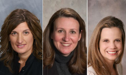 Three women have been named to this year's Most Influential Women list. From left: Cristina Fronzaglia-Murray of PPG, Renee Ricciotti of 3M Automotive Aftermarket and Elizabeth Stein of Assured Performance Network.