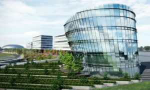 """Detroit and Michigan are attracing more high-tech talent, and automakers plans show it. Ford is currently overhauling its Dearborn campus to add green space, walking trails and a cylindrical glass tower dubbed the """"Sustainability Showcase."""""""