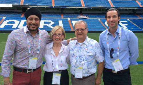 The second day of IBIS concluded with the International Dinner, held at Santiago Bernabéu Stadium. A few members of the Canadian contingent at the event: Harry Dhanjal of BASF, Gloria Mann of Collision Repair magazine, Sandy Liguori of Woodchester Auto Group and Michael Macaluso of CARSTAR.