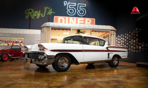 The '58 Chevy Impala, a very popular vehicle from American Graffiti, will be appearing across the United States at various Car shows alongside Axalta Coating Systems.