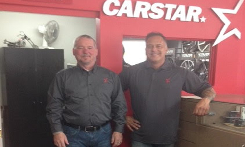 Dave Meery (Left) and Serge Leger (Right) in CARSTAR Shediac. With a 6,500 square foot facility, nine employees, two paint booths and state of the art equipment to service even large vehicles with aluminum components, CARSTAR Shediac is ready to support its neighbourhood and the Moncton area.