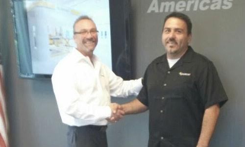 Spanesi Americas COO Tim Morgan and the company's newest hire, Jesus Munoz.