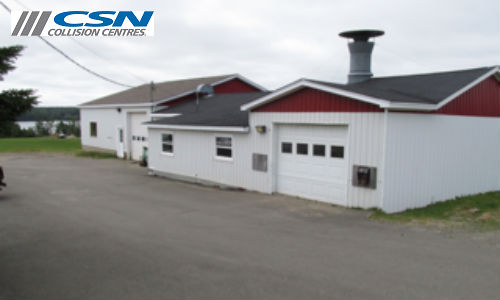 CSN Ronnie's Auto Body in Bouctouche, New Brunswick. The facility first opened in 1972 and has recently joined CSN Collision Centres.