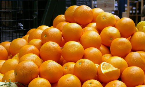 Seville police were perplexed after pulling over two cars and a truck filled with oranges.