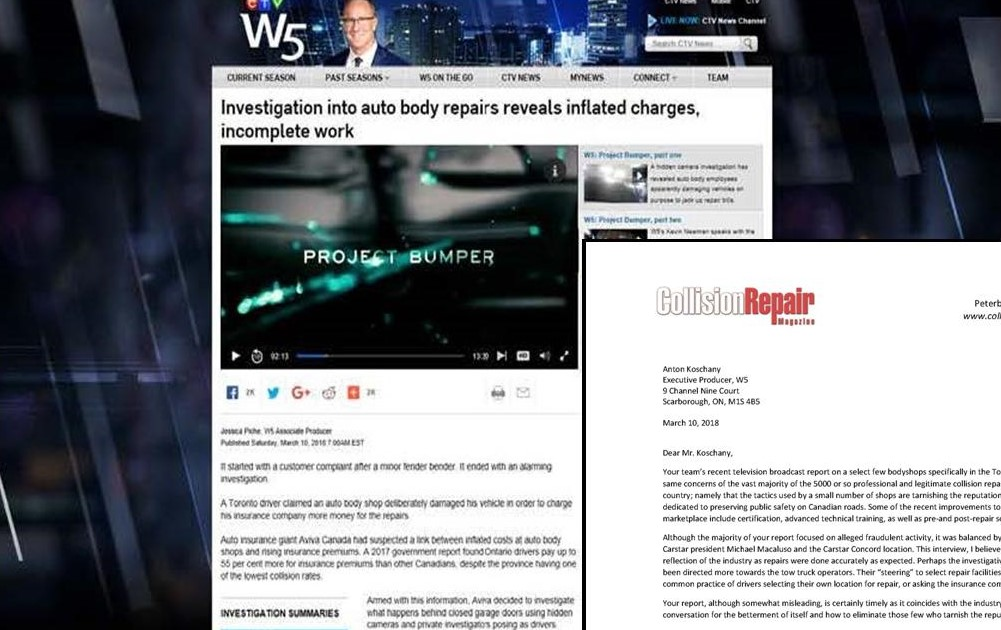 Industry responds to W5 report.