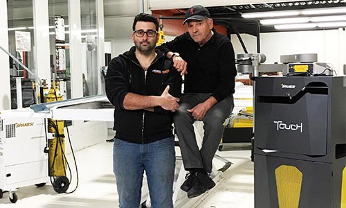 Anthony Iaboni and father Giuliano Iaboni. Anthony was first introduced to the auto repair industry through his father's plastic bumper and fender remanufacturing business.