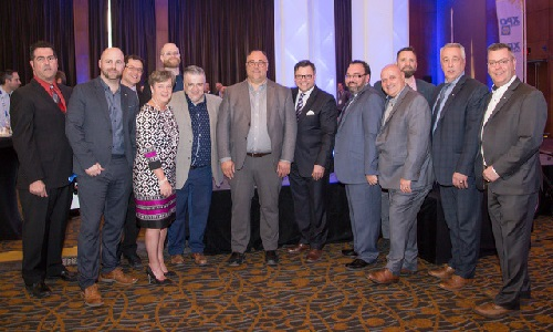 The NAPA organizing committee, in the centre is Alain Primeau, vice president, Quebec region, NAPA Auto Parts.