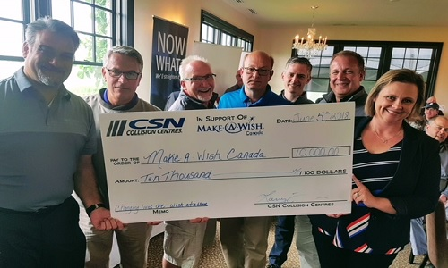 During CSN's evening program a cheque in the amount of $10,000 was presented to Alyson Geary of Make-A-Wish Canada.