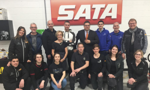 WorldSkills competitors, experts, trainers and SATA staff at the training centre on Mar. 19.